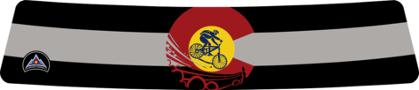 Black Colorado Flag with Mountain Biker