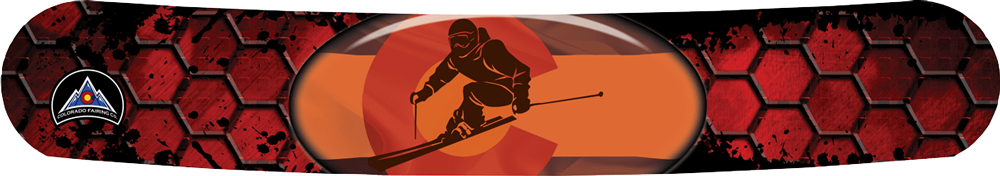 Red Honeycomb Skier