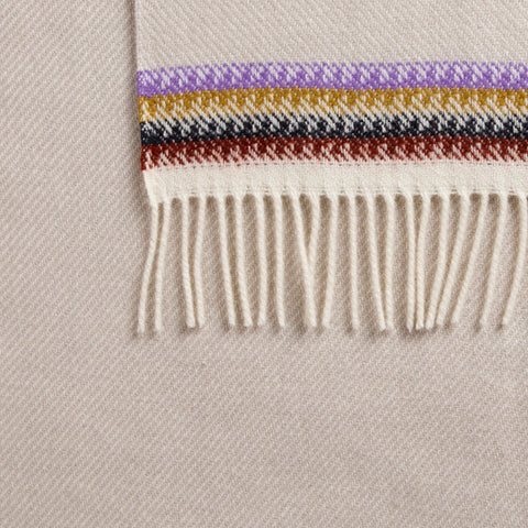 Akle Wool Blanket with Fringe by Røros Tweed