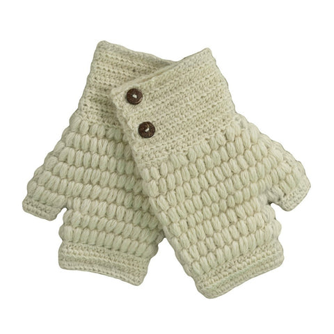 Cable Alpaca Gloves by Shupaca