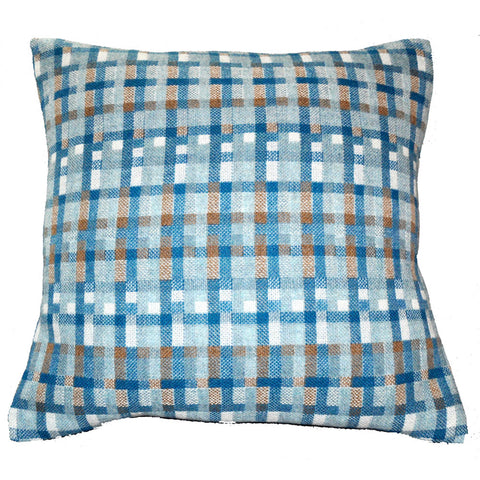 Carew Woven Pillow Shown in Aqua