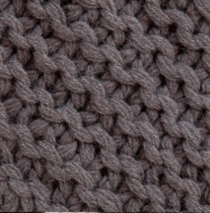 Dark Taupe Links Throw by Alicia Adams
