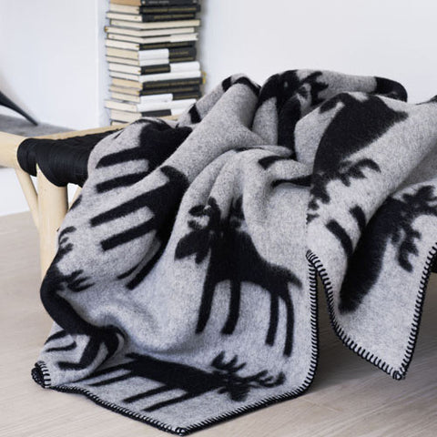 Elg Norwegian Wool Blanket by Røros Tweed
