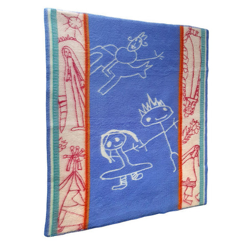 Framtid Kids Fairytale Norwegian Wool Blanket by Røros Tweed