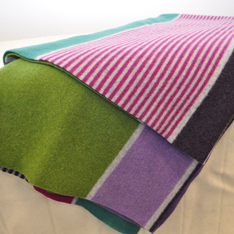 Kelly Wool Knit Felted Throw by Paulette Rollo