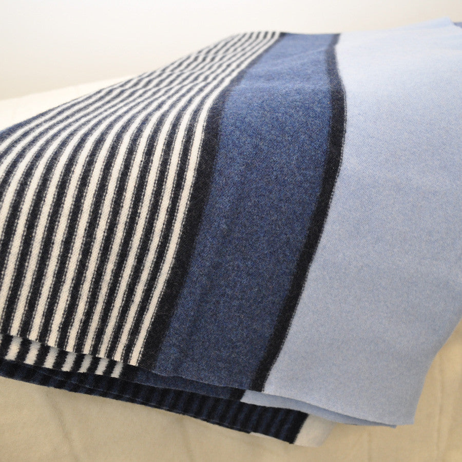 Regatta Wool Knit Felted Throw by Paulette Rollo