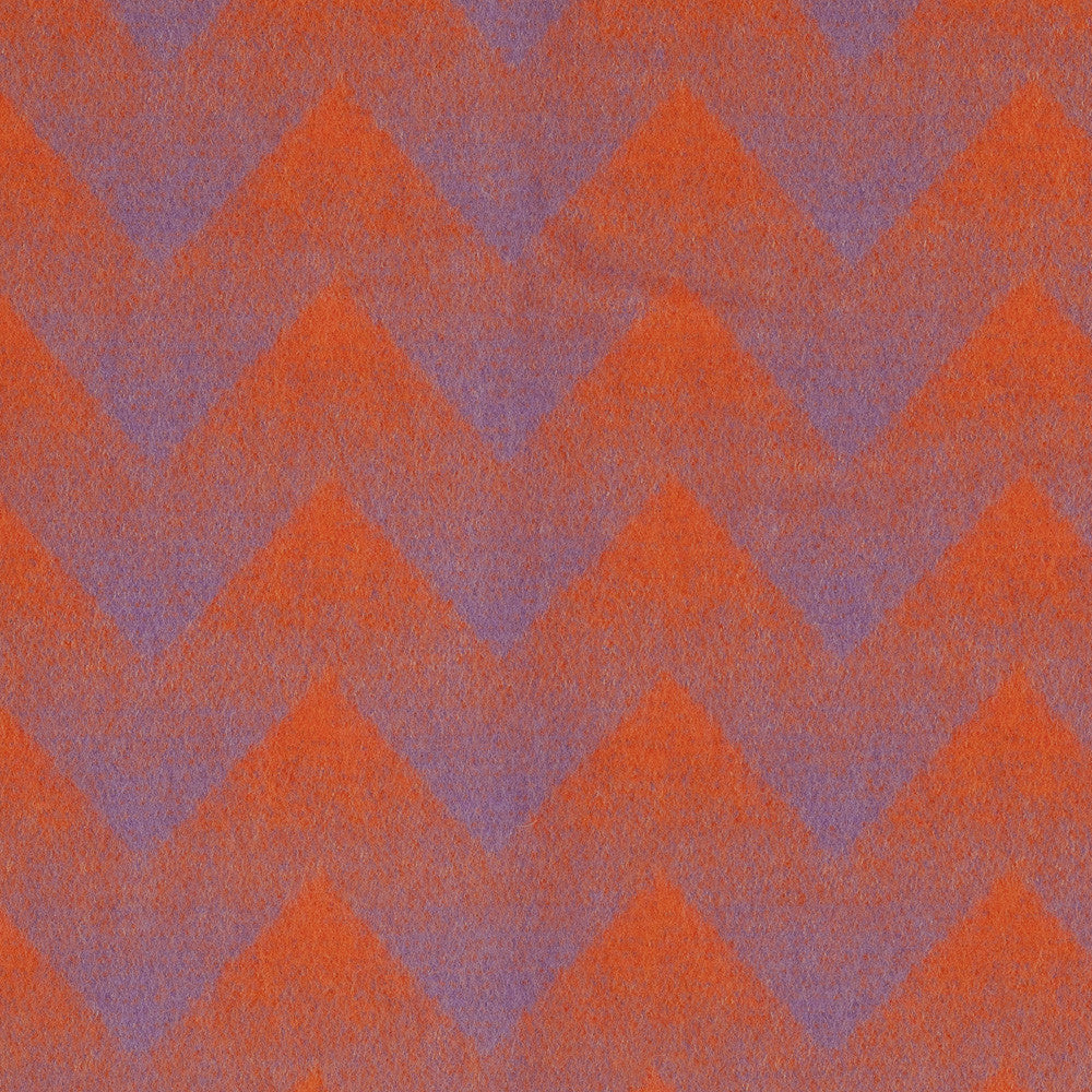 Lynild's wool pattern in Orange/Violet colors - perfect for adding character to the neutral colors you might be using at home