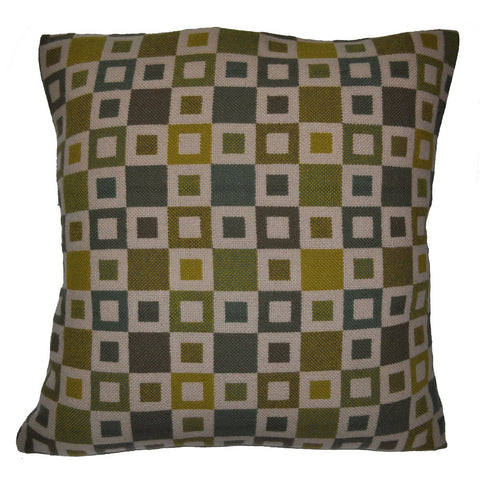 Madison Woven Pillow Shown in Green/Gold