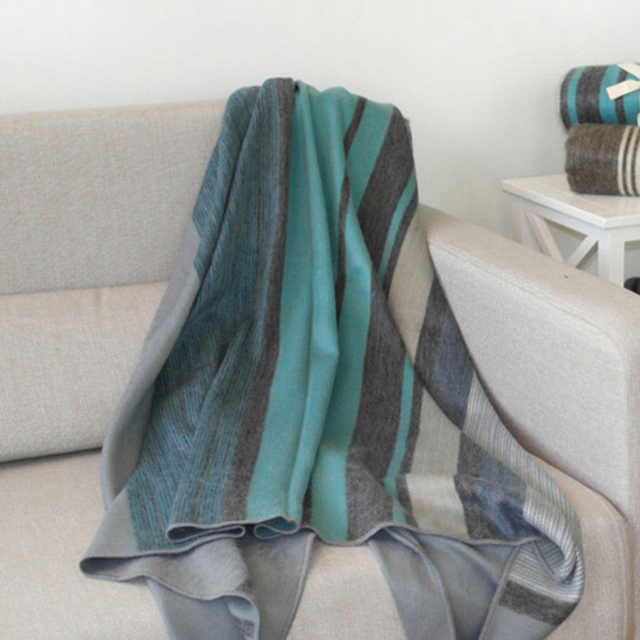 Modern Azul Alpaca Throw by Shupaca