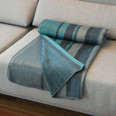 Modern Azur Throw by Shupaca, Beautifully Woven Alpaca
