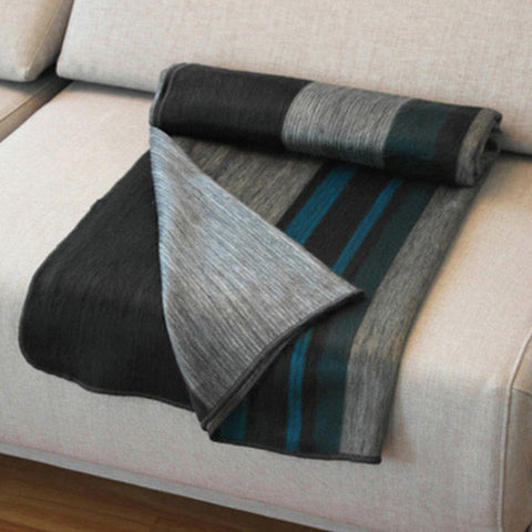 Onyx Alpaca Throw by Shupaca