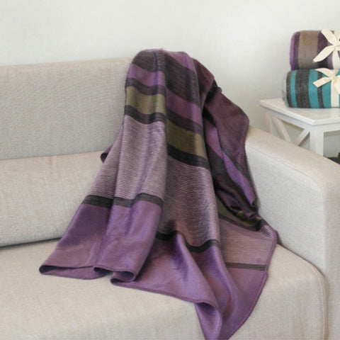 Violet Alpaca Throw by Shupaca