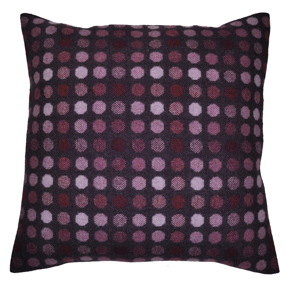 Mondo Woven Pillow Shown in Purple