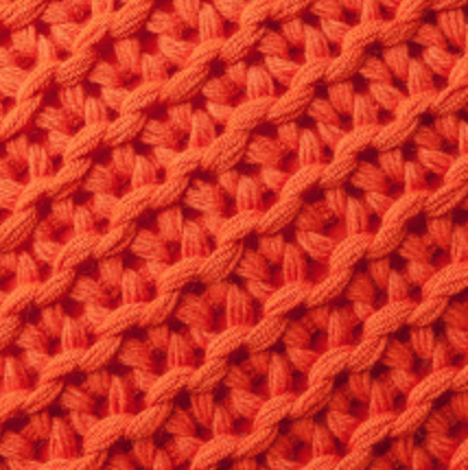 Orange Links Throw by Alicia Adams