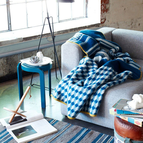Arv Norwegian Wool Blankets Display Beautifully with Virtually any Contemporary or Traditional Furniture Environment.
