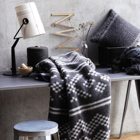 The Luxurious Setesdal Norwegian Wool blanket is at home in any room. The pattern is appealing and the wool warm and cozy.