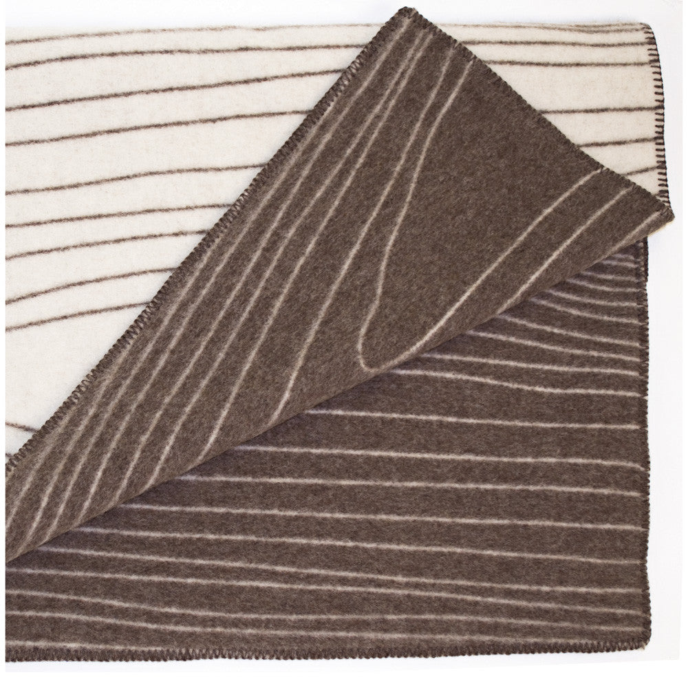 The Reversible Skog Norwegian Wool Blanket, Brown