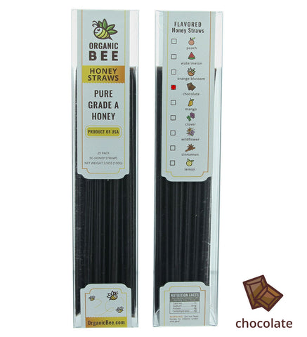 Chocolate Honey Straws