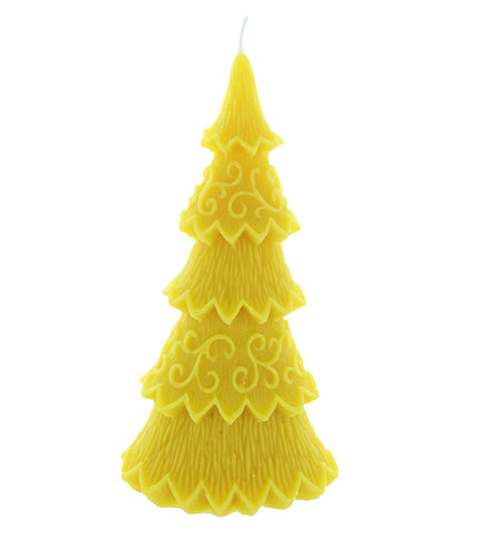 Christmas Tree Beeswax Candle