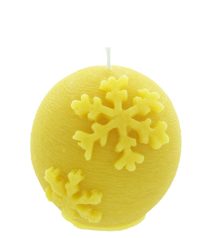 Christmas Ornament Beeswax Candle