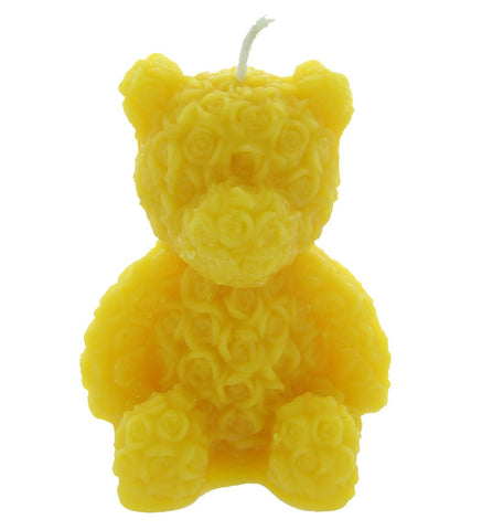 Rose Bear Beeswax Candle