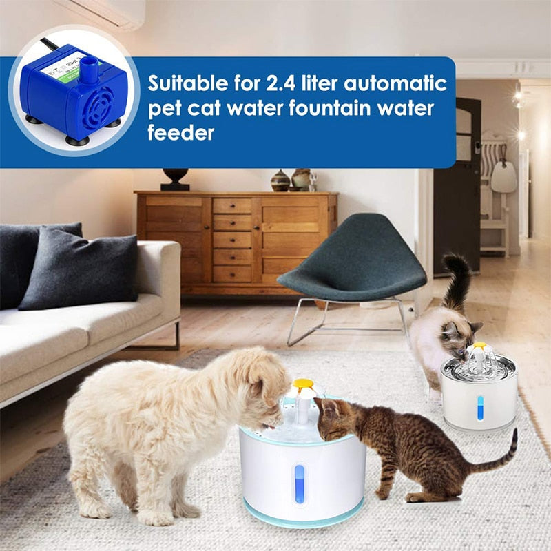 Pet Water Fountain Replacement Pump (with LED Light)