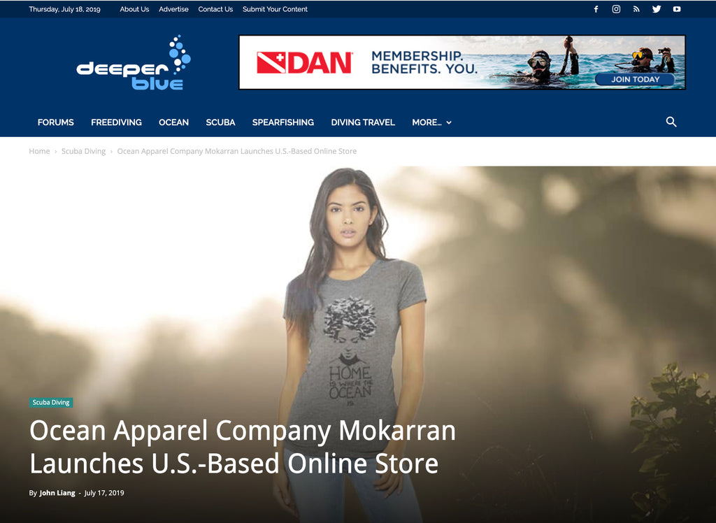 """Ocean Apparel Company Mokarran Launches U.S.-Based Online Store"" by Deeperblue"