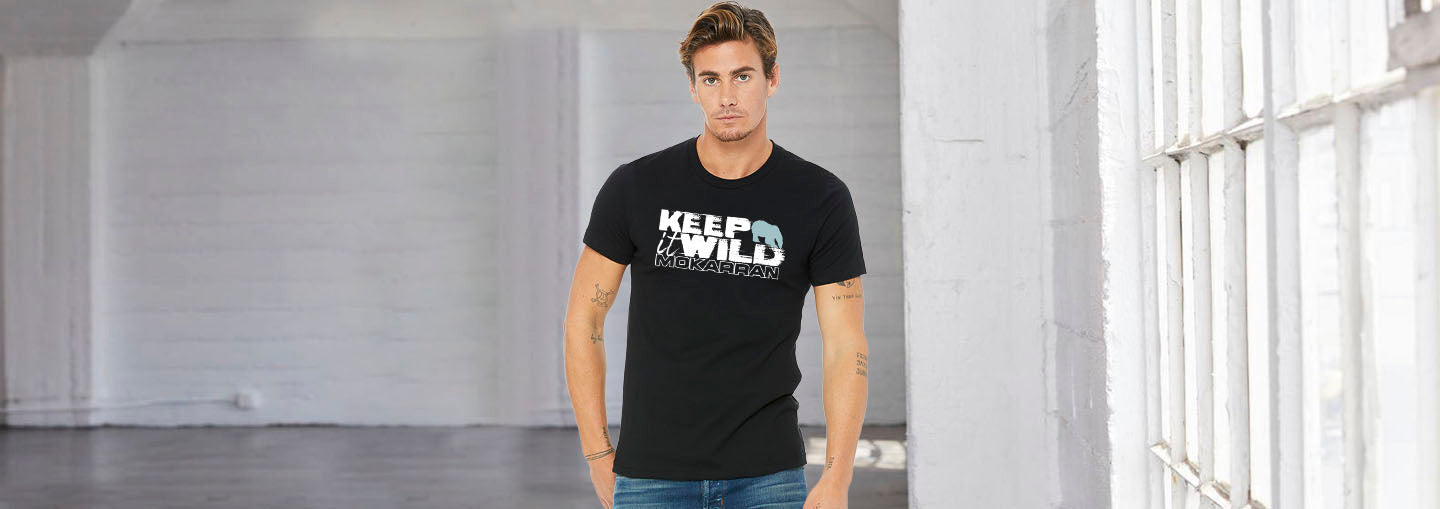 Keep it wild scuba tee shirt for men, polar bear