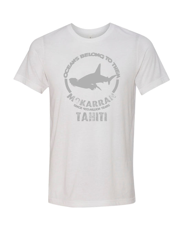 Tahiti Great Hammerhead Shark White Scuba Tee Shirt