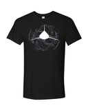 diverwear brand shark t-shirt black