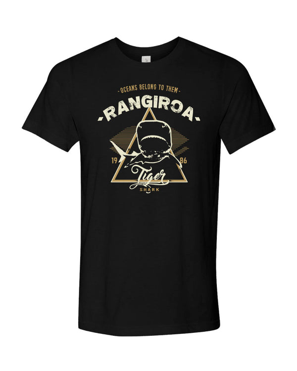 Rangiroa Tiger Shark V1 Black Scuba tee shirt