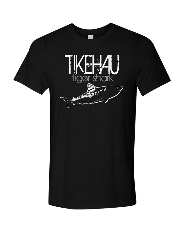 Tikehau Tiger Shark V2 Black Scuba Tee Shirt