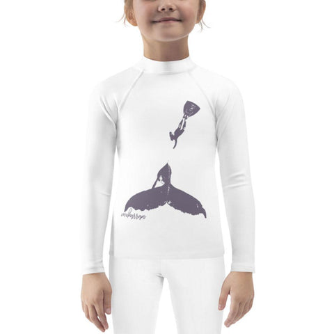 Scuba rash guard for little girl with humbpackwhale