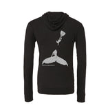 Scuba diving hoodies for women with humpback whale