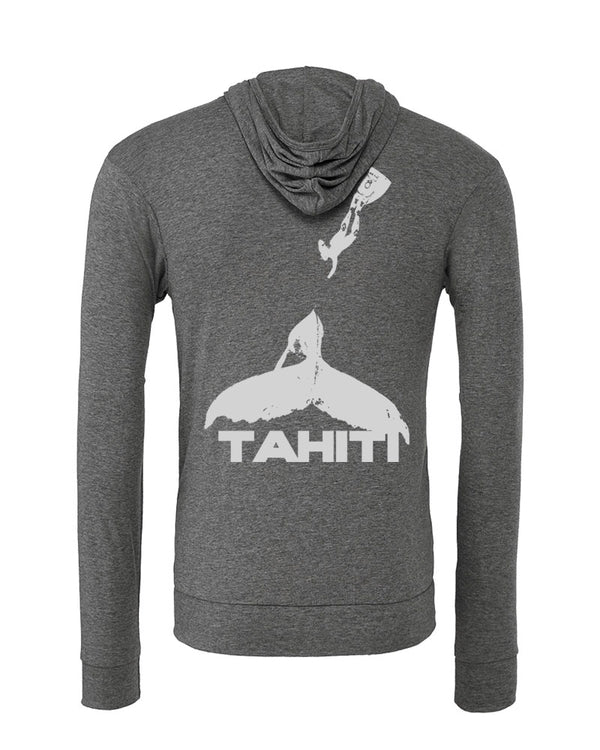 Scuba hoodies:humpback whale. Color grey
