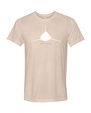scuba diving apparel t-shirt shark peach