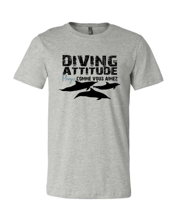 Diving attitude by Mokarran. Scuba t-shirt
