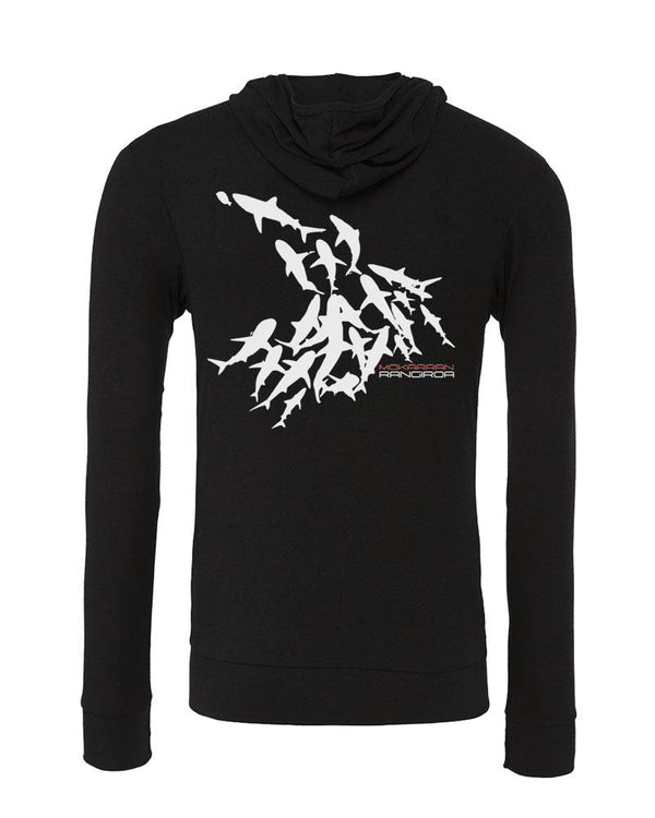 diverwear brand shark Hoodies. Color Black