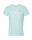 Orca heather prism ice blue scuba tee shirt for men