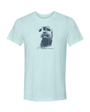 Seal heather ice blue scuba tee shirt for men
