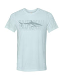 Scuba t-shirt Silky shark ice blue
