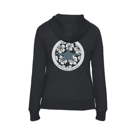 Black Mokarran Soul Flex Fleece full zip scuba Hoodies for women