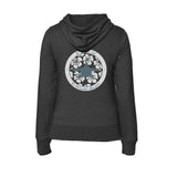 Dark heather grey Mokarran Soul Flex Fleece full zip scuba Hoodies for women