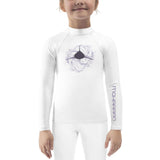 Scuba rash guard for little girl with shark