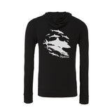 Sharks wall sponge fleece Pullover scuba Hoodies for women