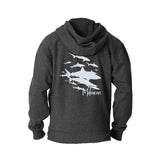 Scuba hoodies: shark flex fleece Hoodies. Color asphalt