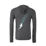 diverwear brand shark Hoodies. Color grey