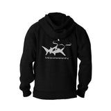 Scuba hoodies: shark flex fleece Hoodies. Color black