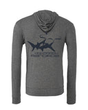 Ocean lifestyle brand. Shark Hoodies. Grey