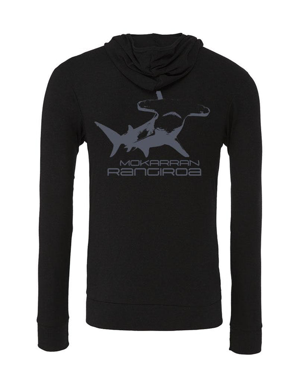 ocean lifestyle brand. Shark Hoodies. Black
